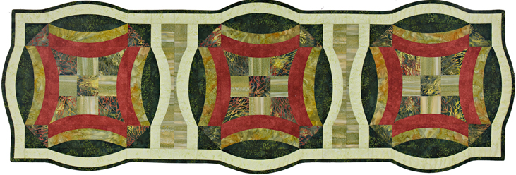 Into the Woods, Dawn's Urban 9-Patch table runner