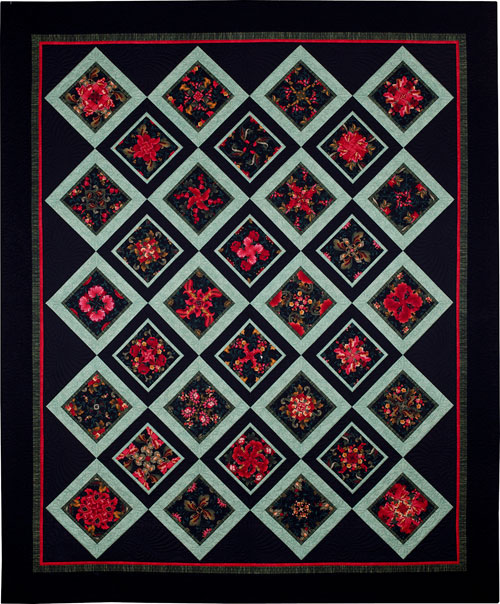 Midnight in the Garden quilt by Dawn White at First Light Designs