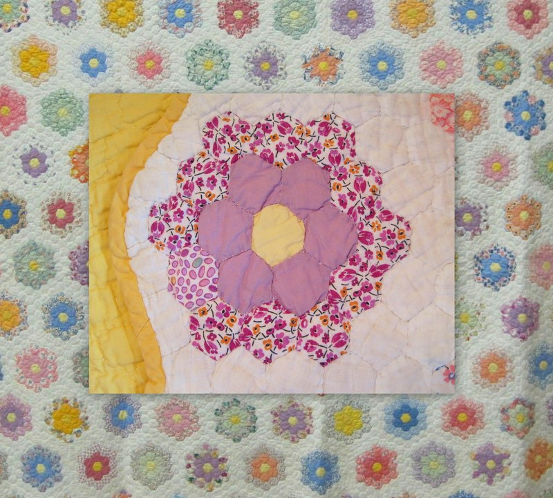 wauka's quilt, with detail