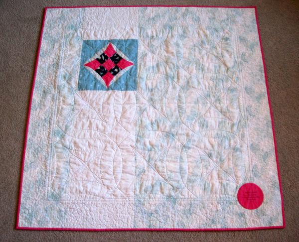 back of Marta's Quilt
