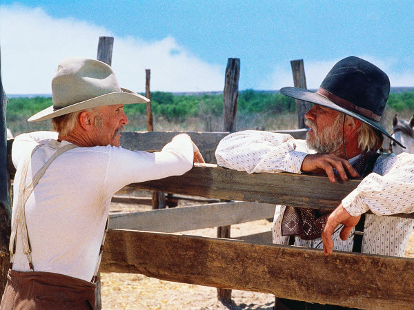 Robert Duvall and Tommy Lee Jones in Lonesome Dove