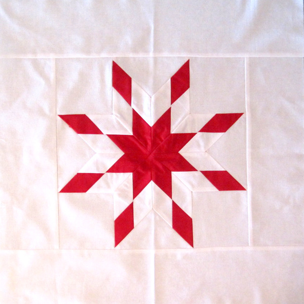 Peggy's cornerstone for Lone Star quilt