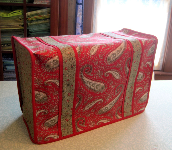 2013-3, Deborah's sewing machine dust cover, side view