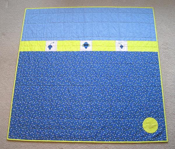 2013-4, back of Nemo's quilt