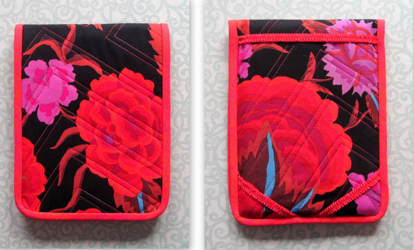 Lee's iPad Mini cover, front and back