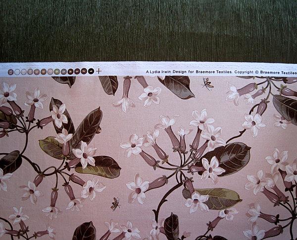 2013-5, closeup of shower curtain fabric