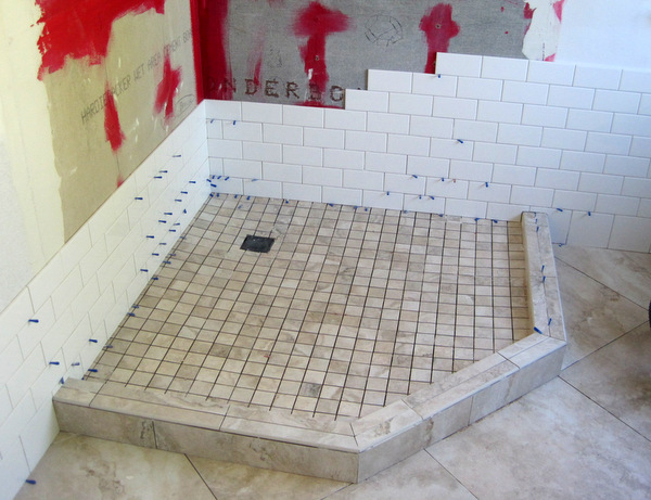 Week 6, tile in shower
