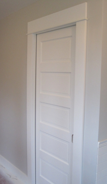 Week 9, pocket door painted