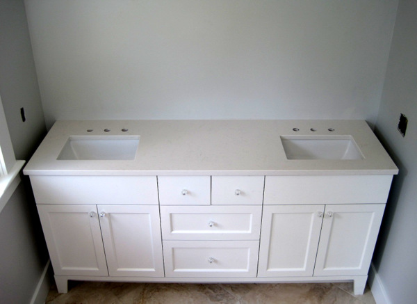 Week 11, vanity with countertop and sinks