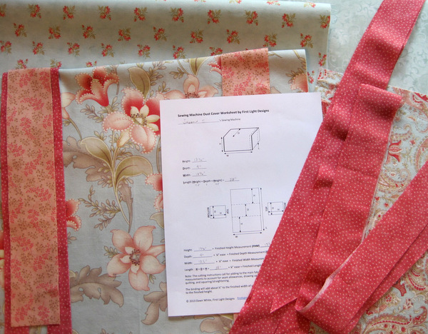 Susan's fabric choices for custom dust cover