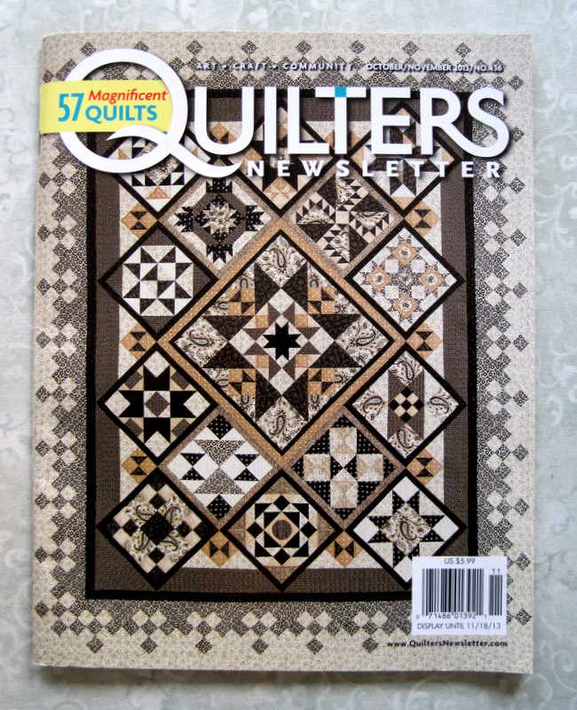 2014-1, QNM cover of sampler quilt