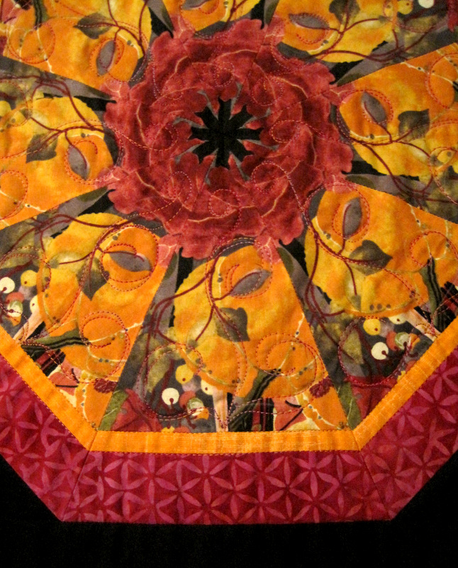 2014-2 Kaleido Wall Hanging quilting detail
