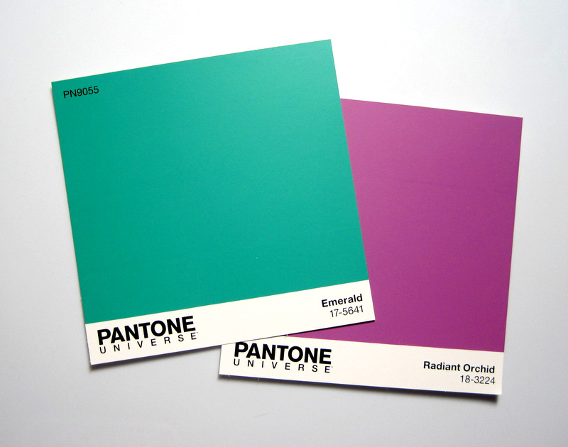 2014-2 Pantone emerald and orchid