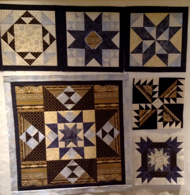 Jennifer V medallion and first four blocks