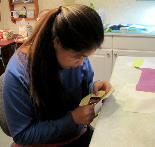Bonnie cutting letters