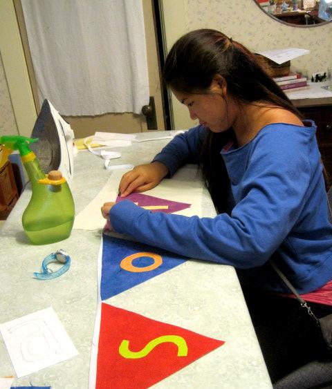 Bonnie fusing letters