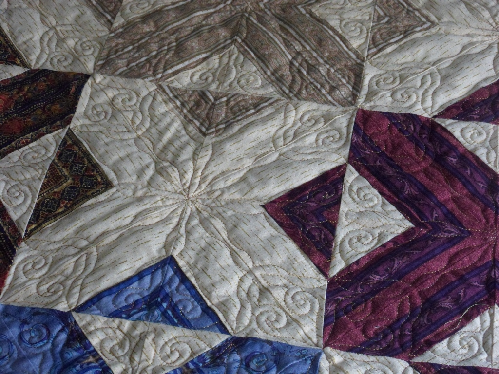 Jennifer T's quilt, quilting detail