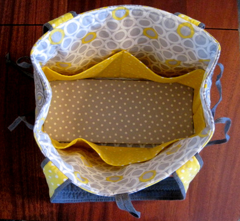 Viv's Bow Tucks Tote, inside