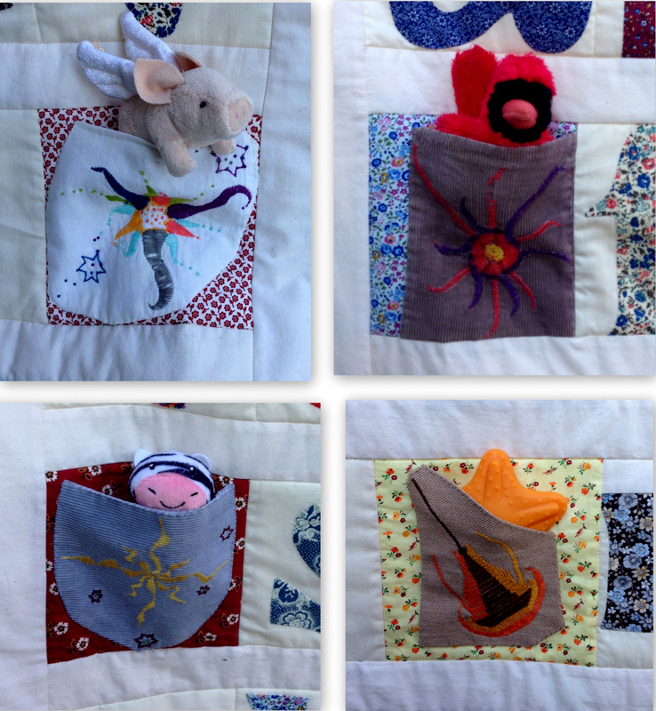 Susan's quilt pockets filled