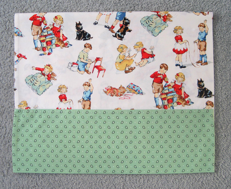Dick and Jane pillowcase for Edward