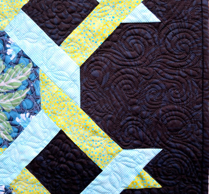 Olivia Twist, quilting detail background