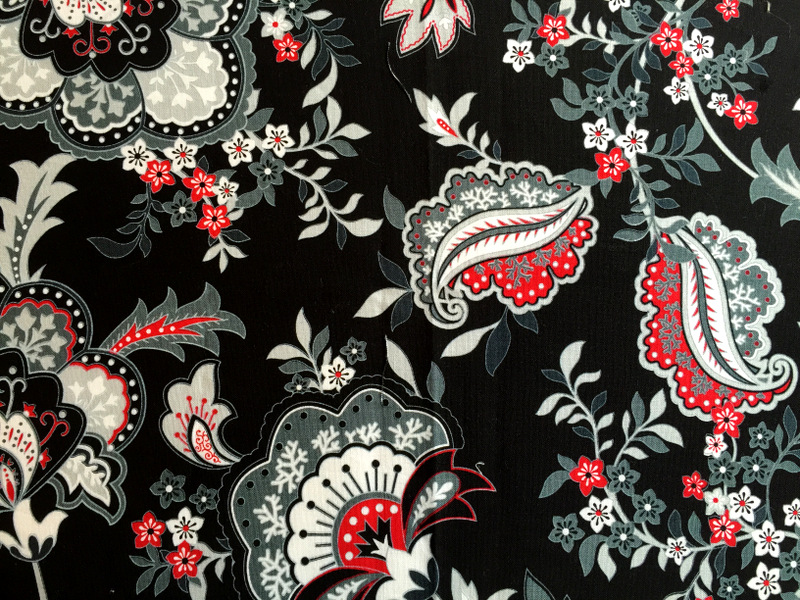 Black, White and Currant fabric from Henry Glass