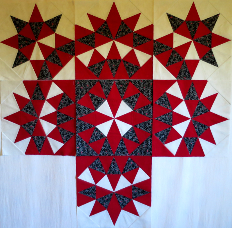 Grandma's Surprise, blocks 1-6 and block 8