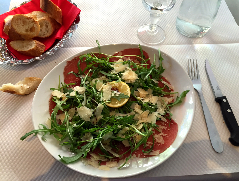 Paris food carpaccio