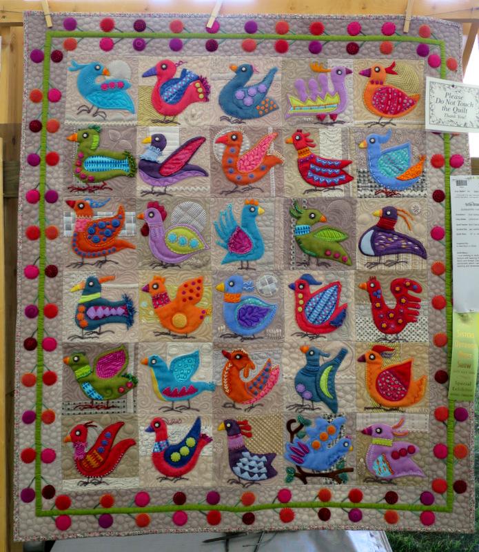 Bird Dance by Sue Spargo of Uniontown OH (37 x 43)