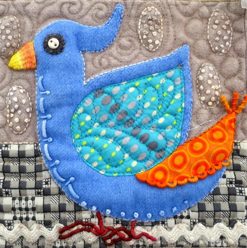 Bird Dance, detail, by Sue Spargo
