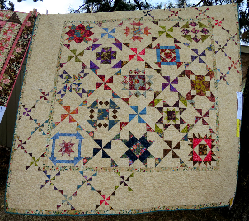 Spinner Sampler by Deborah Rutledge of Merrill OR 88 sq