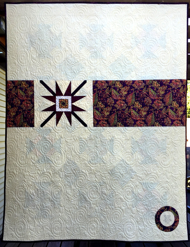 Simply Dashing Aug 2015 back of quilt
