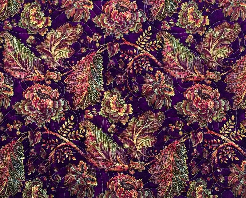 Simply Dashing Aug 2015 focus fabric Balinesia by Benartex