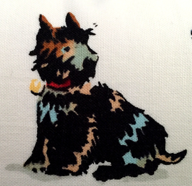 dog pillow image close up