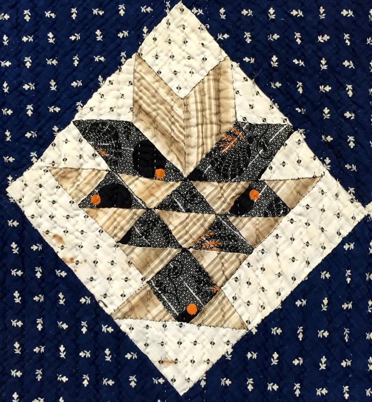 Vintage basket quilt, detail