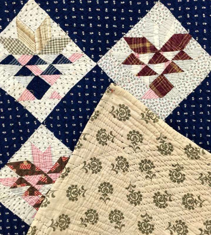 vintage basket quilt, front and back