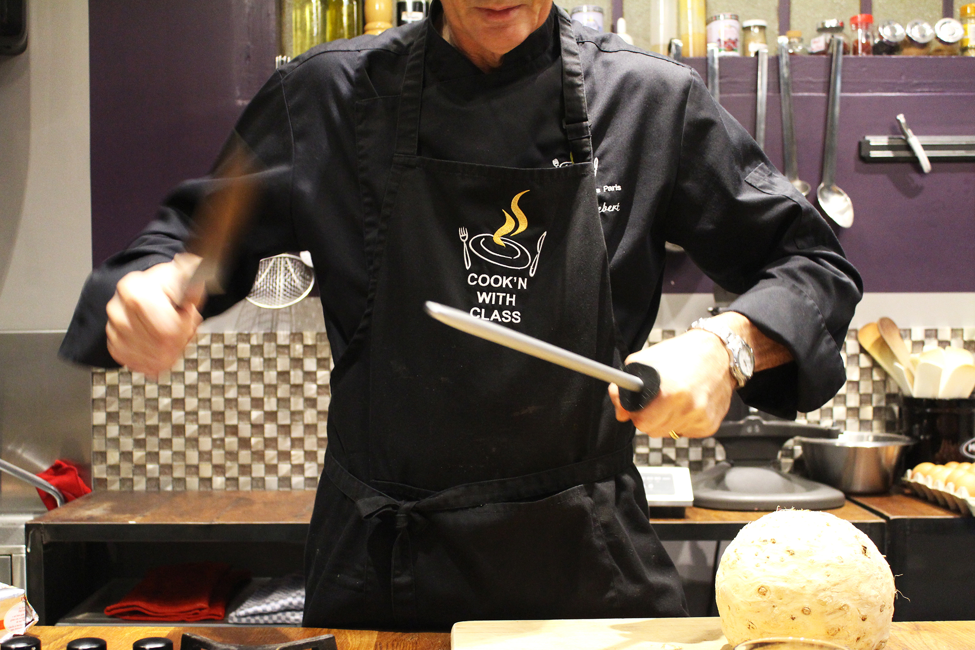 chef patrick sharpening knives
