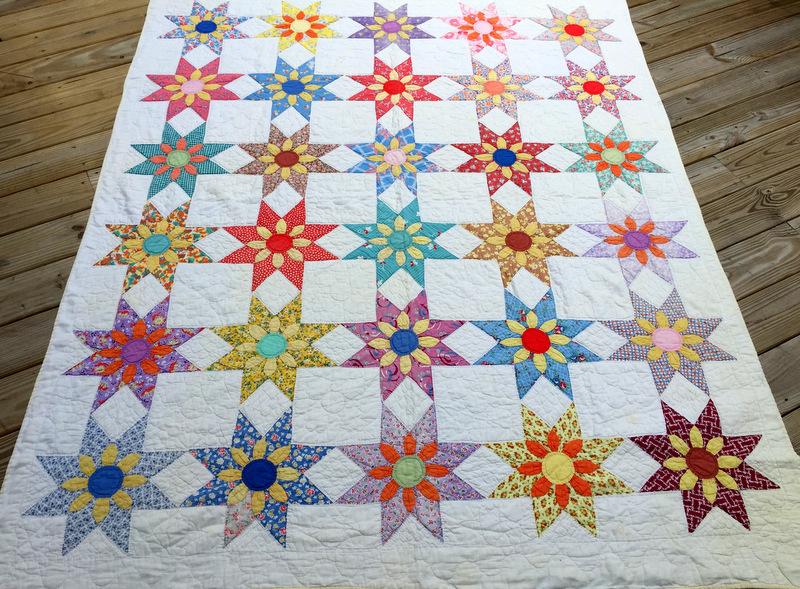 floral star quilt-001