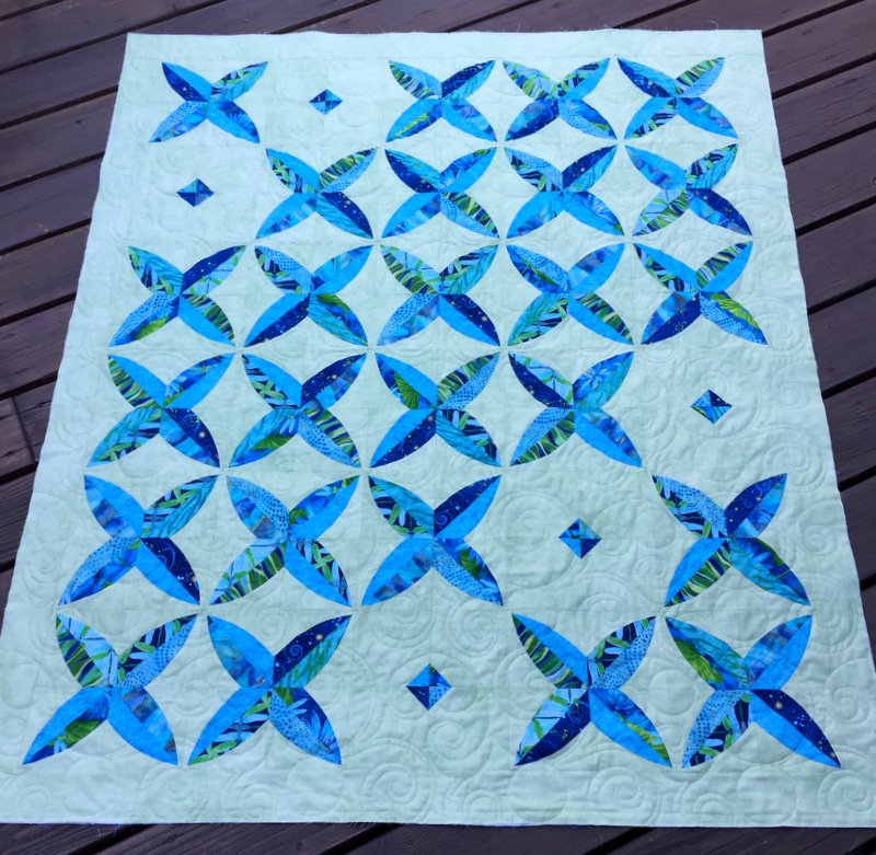 Dragonfly Kisses, quilted