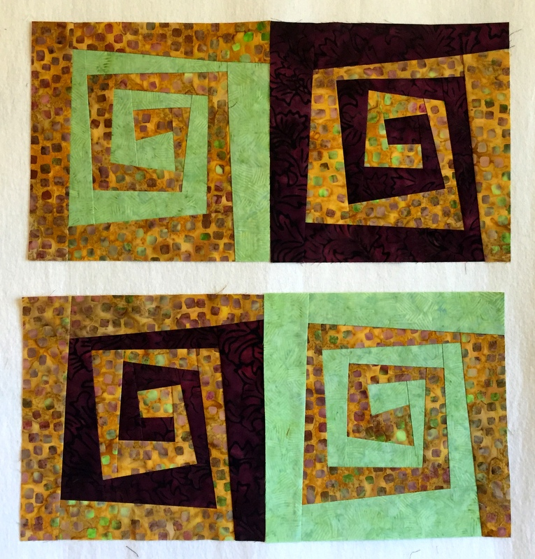 Rewind blocks with giraffe fabric