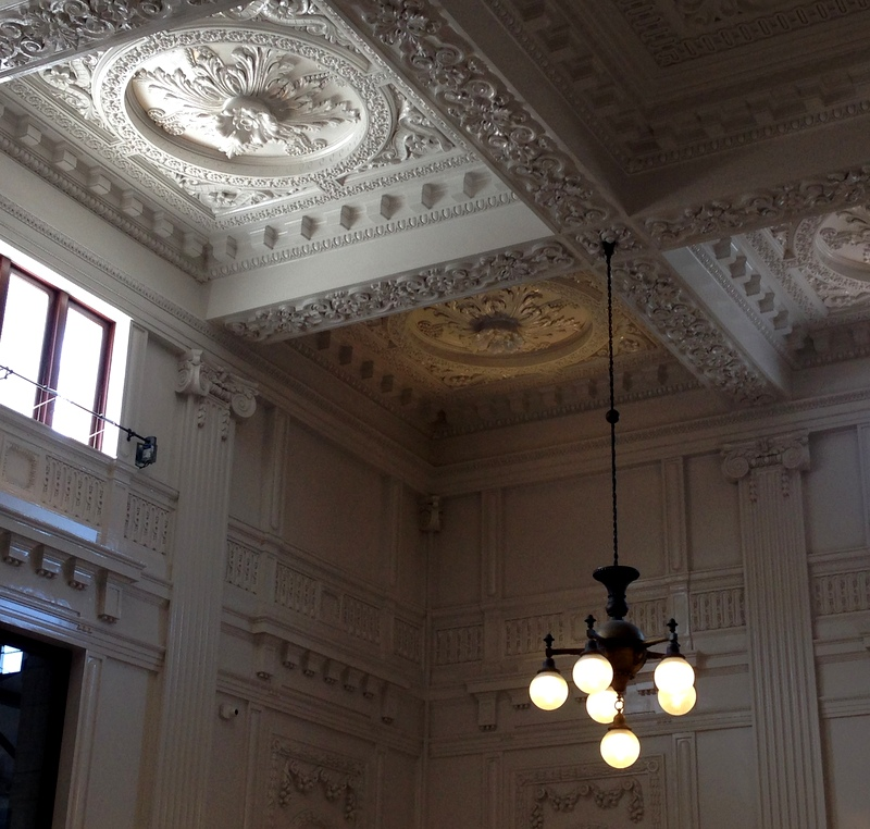 Seattle King St Station ornamental plaster ceiling aug 2016