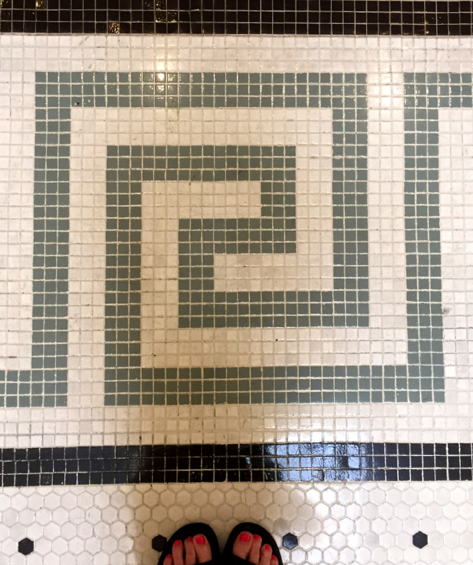 Seattle Union Station tile floor detail aug 2016