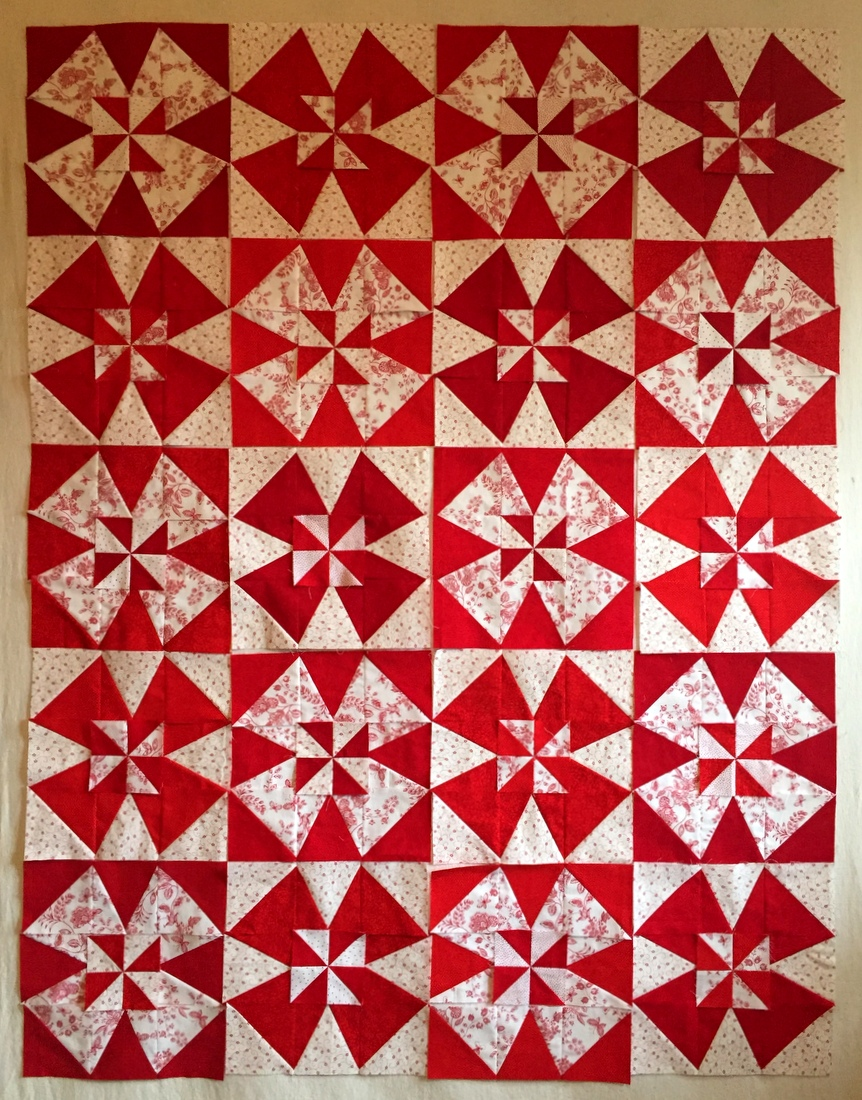 Windmill Quilt final layout