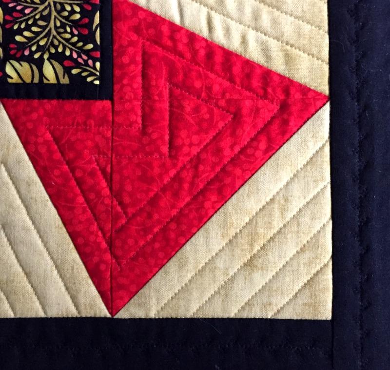 jbb windmill block quilting detail