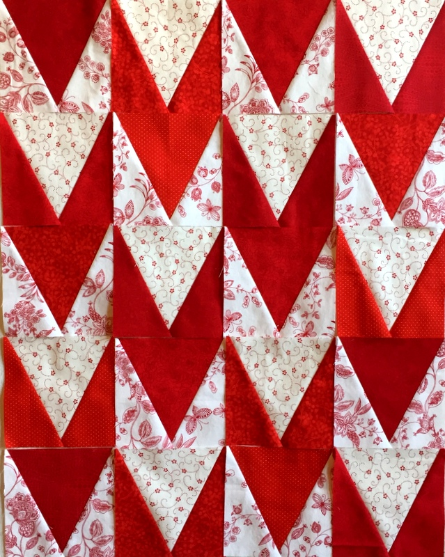 windmill quilt V blocks