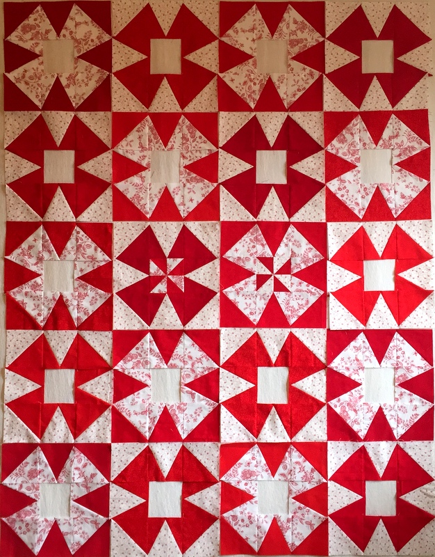 windmill quilt layout