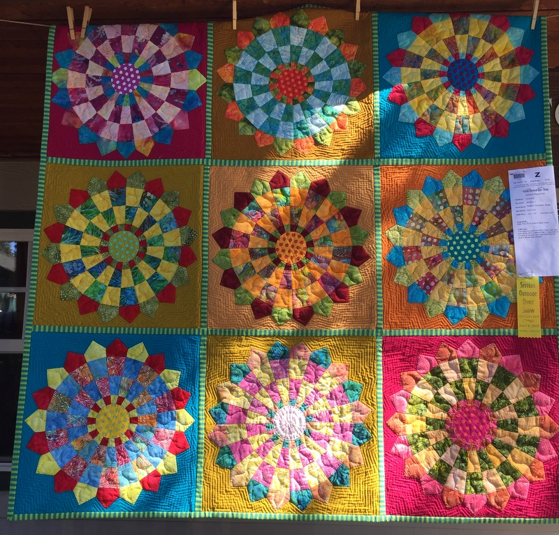 Twistin Dresden Style 53 Square Made And Quilted By Anne Zick Of Hinsdale IL